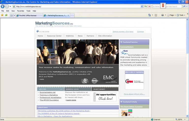A portal of resources for marketers